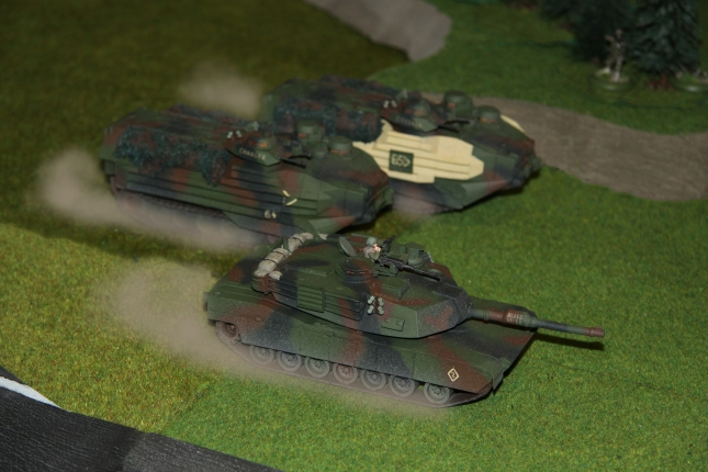 USMC Abrams and Amtracs charging