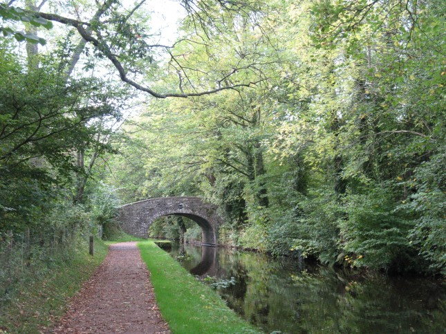 Old towpath near Brecon
