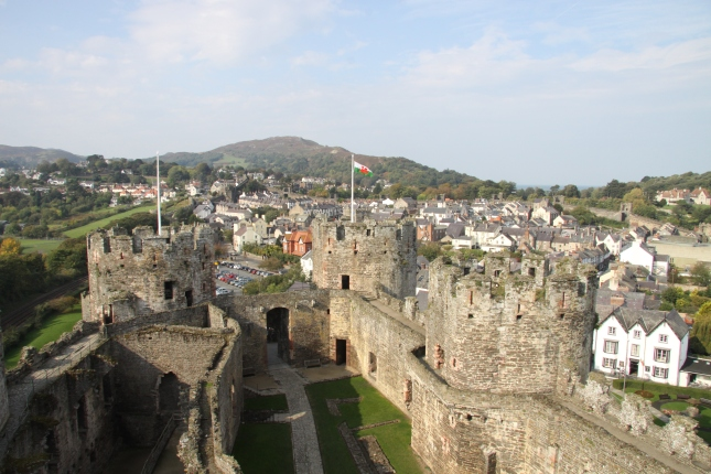 Conwy Castle and part of the town itself