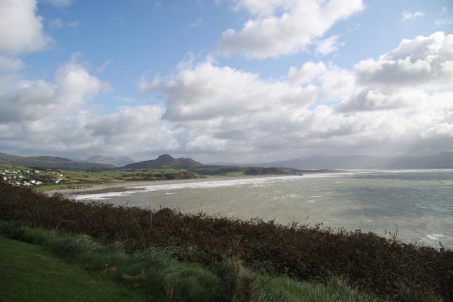 Welsh coast (Cardigan Bay) seen from Criccieth Castle