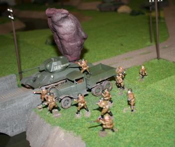 Soviet Infantry dismounting