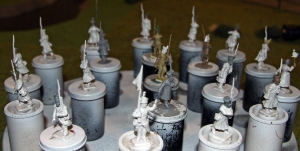 Minis before being primed