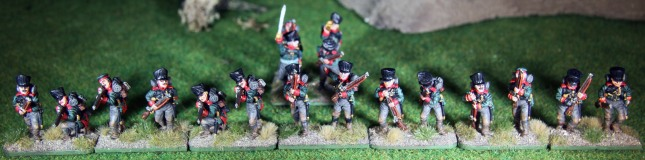 Ostpreußisches Jägerbattalion - Gardejägerbattalion in Skirmish Formation