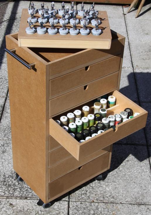 Paint cart open
