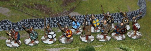 Jomsvikings and Bondi at the beginning of the game (right flank)