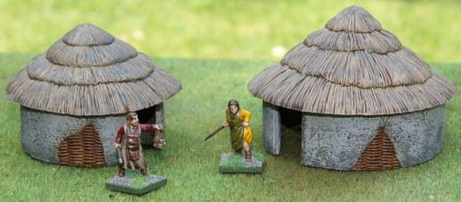 Round huts