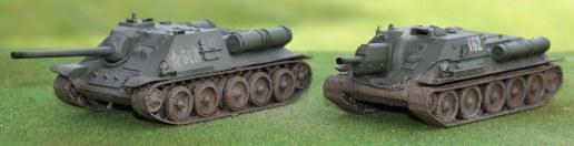 SU-85 and SU-122