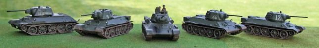 T-34/76s (hexagonal turret)