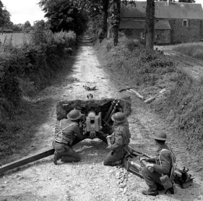 British AT gun in Normandy