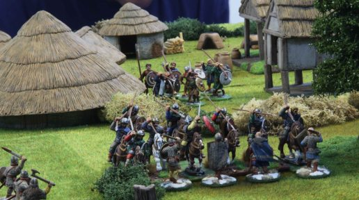 Welsh cavalry and Warlord charging the Jomsvikings