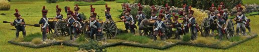 French artillery battery (an XI)