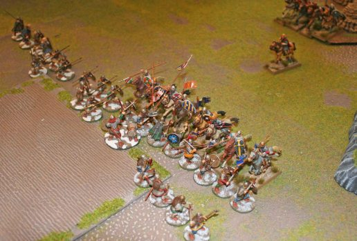Norman cavalry make contact