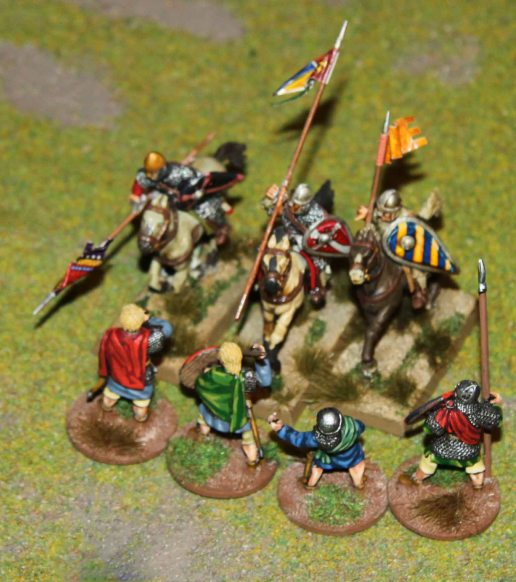 Norman cavalry vs. Welsh