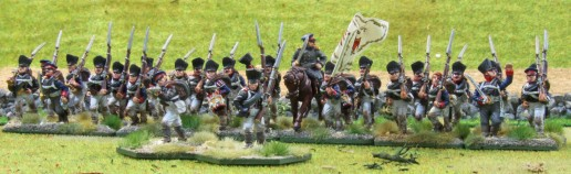 12te Reserveinfanterie (in line with skirmishers)