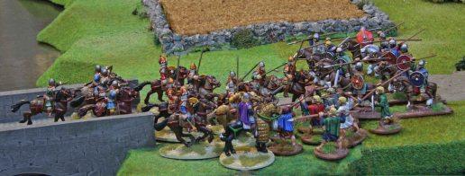 Byzantine Cavalry charging Welsh Bonedig