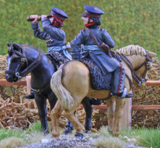 Prussian artillery officers (side view)