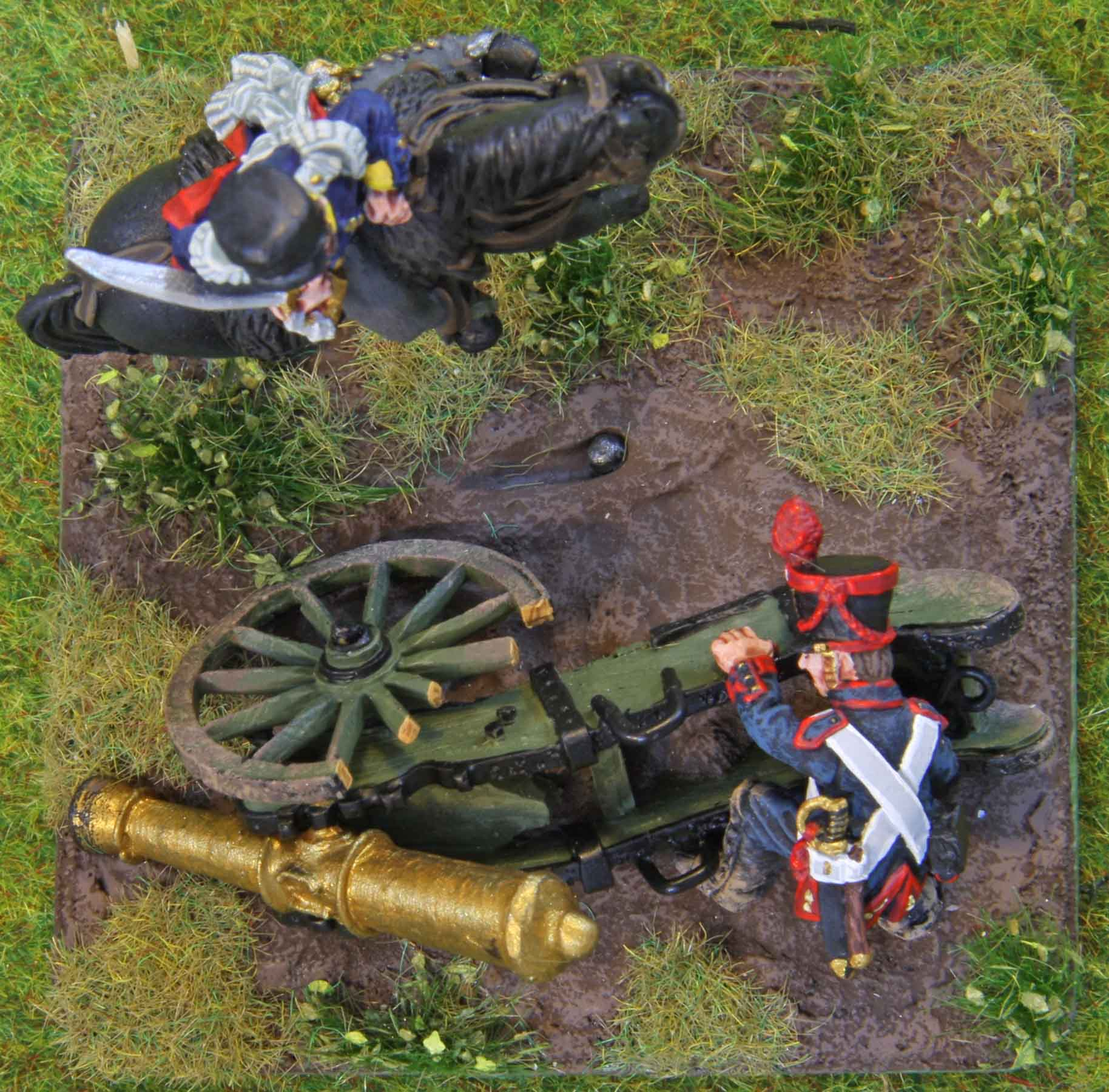 Prussian mounted infantry officer (top view)