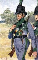 Tyroler Jäger-Kompagnie beim Lützower Freikorps