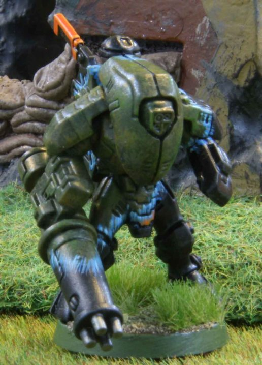 Tau Stealth suit with burst cannon