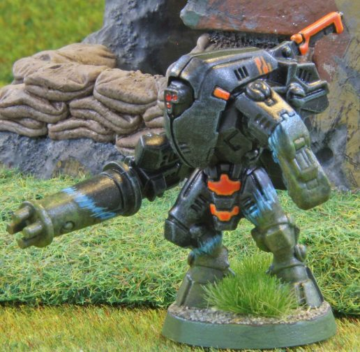 Tau XV 25 suit with burst cannon
