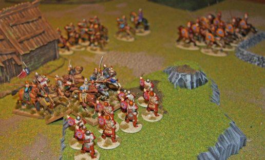 Norman Knights charging Byzantine Taxatoi