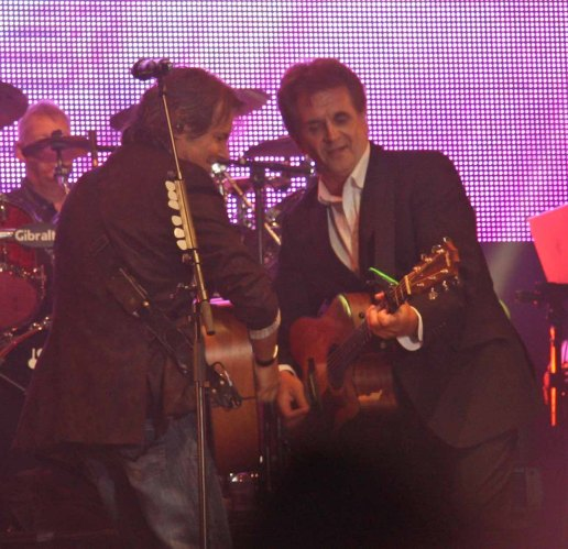 Bruce Guthro and Donnie Munro at Party on the Moor (Runrig 40th Anniversary Concert)