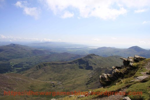 View from Mount Snowdon looking roughly to the east