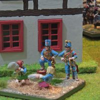 French Napoleonic Hussars pillow fight (Analogue Hobbies Painting Challenge entry #2)