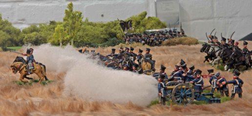 Prussian artillery firing