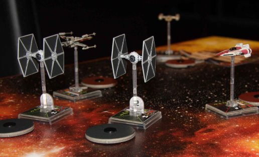 X-Wing Tie Fighters being chased