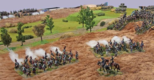 French Artillery firing at the Prussian lines