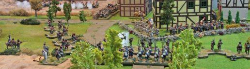 Prussian Skirmishers advancing on Möckern