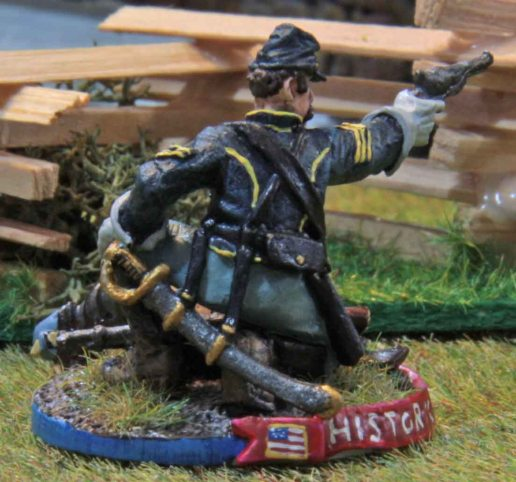 Dismounted Union Cavalry trooper (rear)