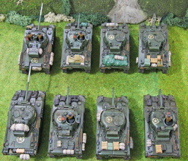 Sherman troops (top view, rear)