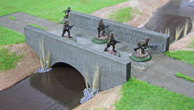 Bundeswehr on the small bridge