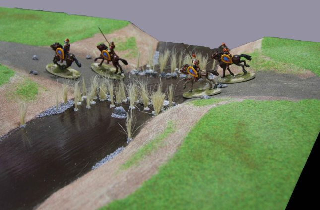 Byzantine cavalry crossing the ford