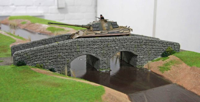 Königstiger on the large bridge