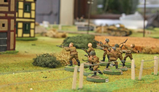 Moving towards the German village