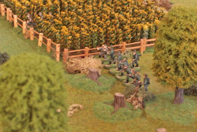 German reinforcements advancing