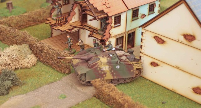 StuG in the village