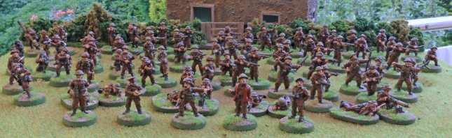 British Infantry group shot