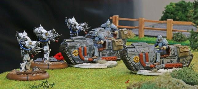 Vorreiter charging into close combat