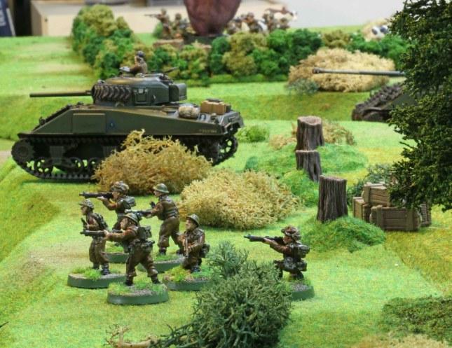 British advance