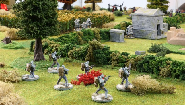 Hussars in their starting positions