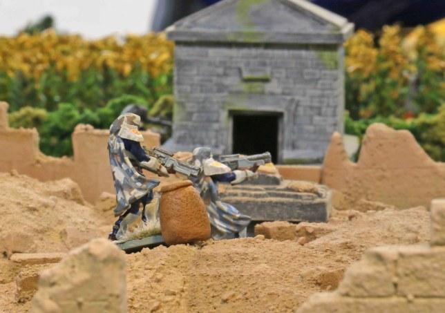 Venusian Rangers in the church ruins