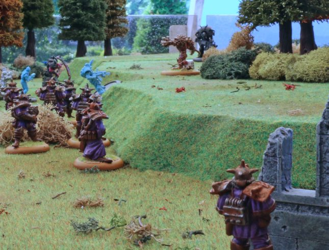 Dark Legion Forces looking at the site of the provious skirmish