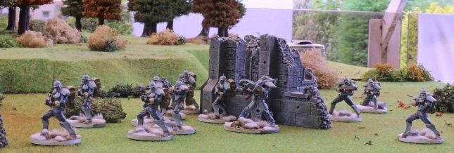 Warlord and Hussars advancing