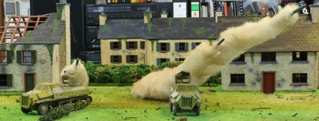 Panzerwerfer battery firing