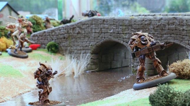 Praetorian Stalkers attacking the Vorreiter