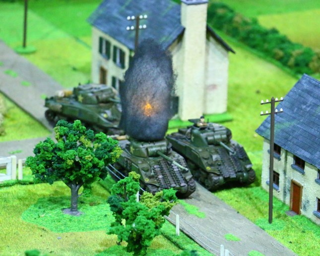 Crisis 2014 - Firefly taken out be a direct hit from a Panzerwerfer